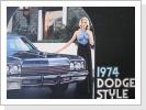 1974 Dodge, orig.Broschüre 39 Seiten, Fr. 26.-